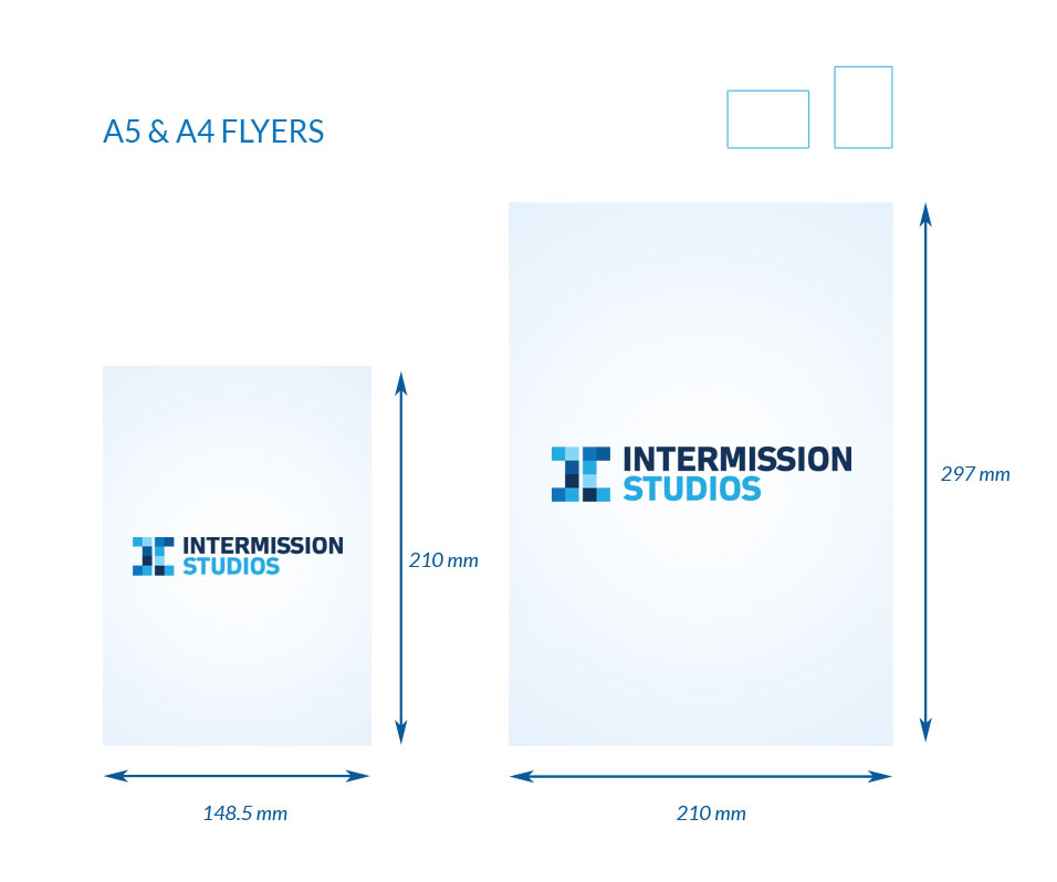 Dimensions for A5 and A4 Flyers