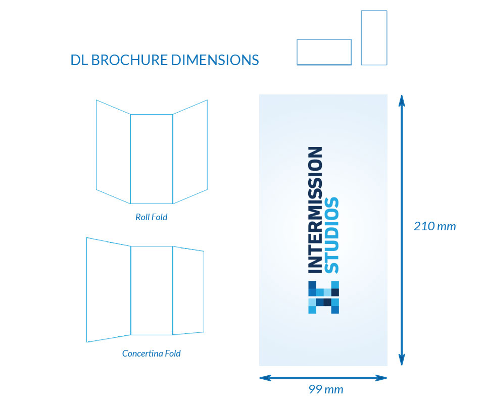 Dimensions for DL Brochure